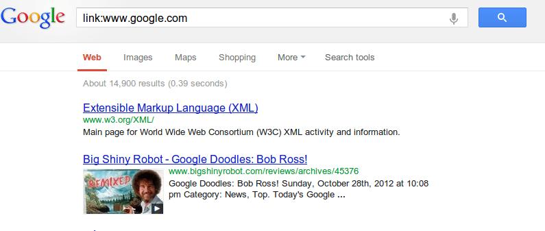 finding links in google
