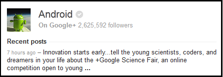 android knowledge graph