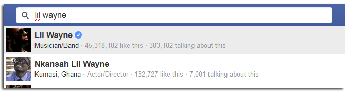 verified facebook timelines