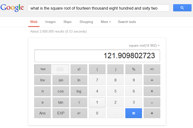 google converts words to numbers