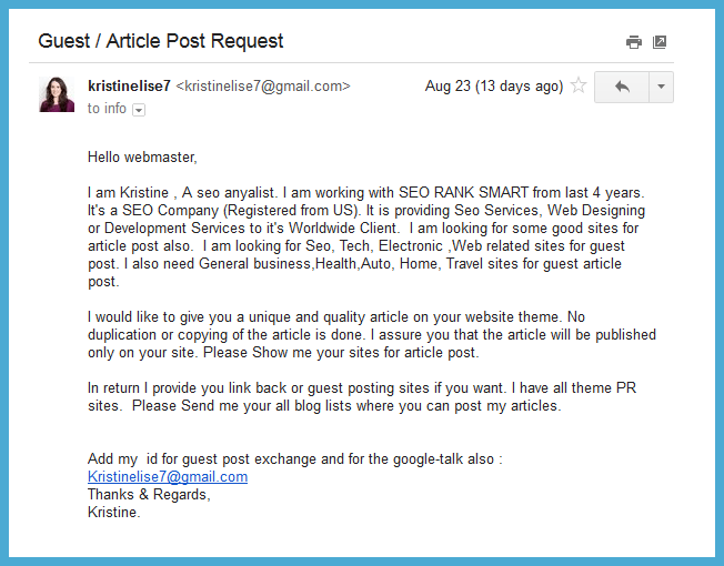 guest post spam