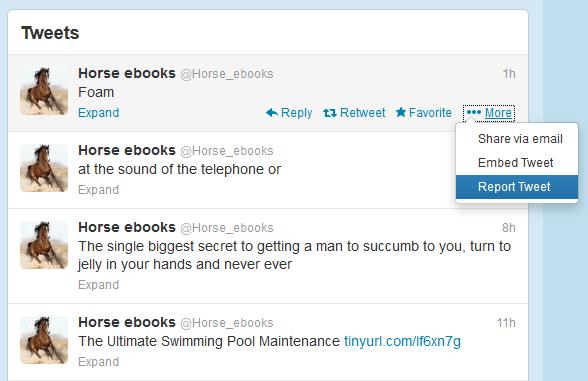 report fake twitter accounts