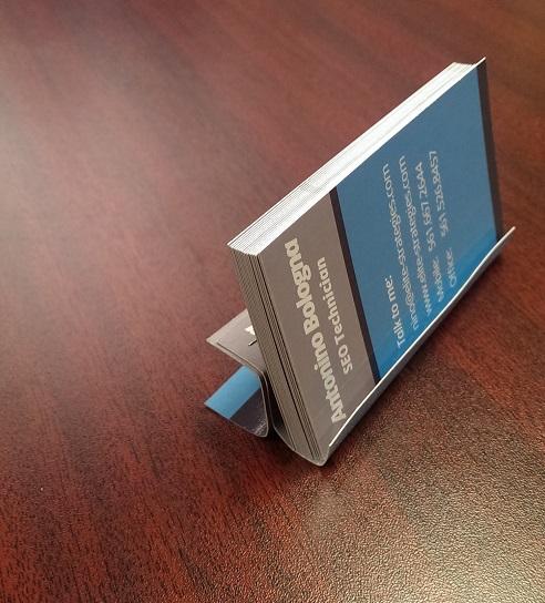 business card holder left