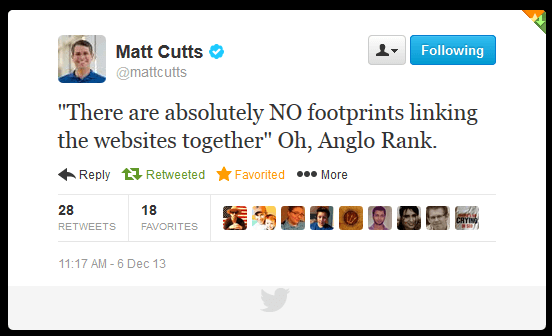 matt cutts anglo rank