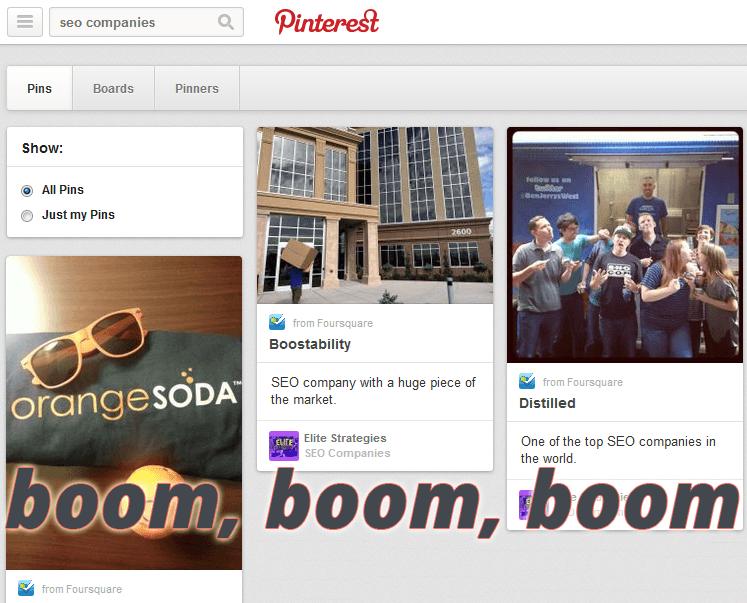 pinterest results