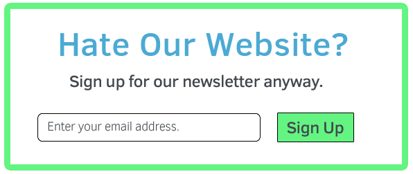 do you hate our website