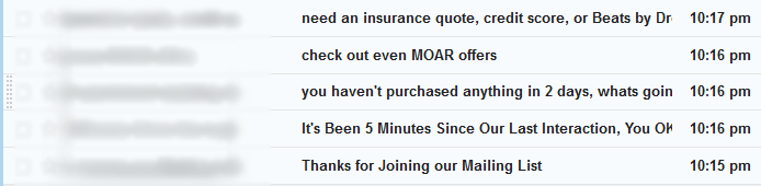 email interaction needy