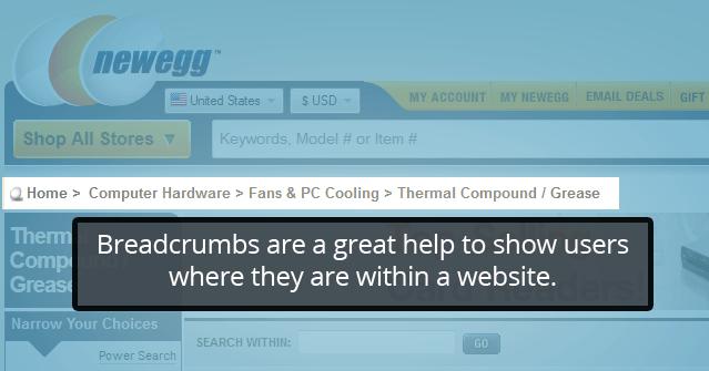 breadcrumb example