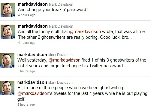 social ghostwriting outed