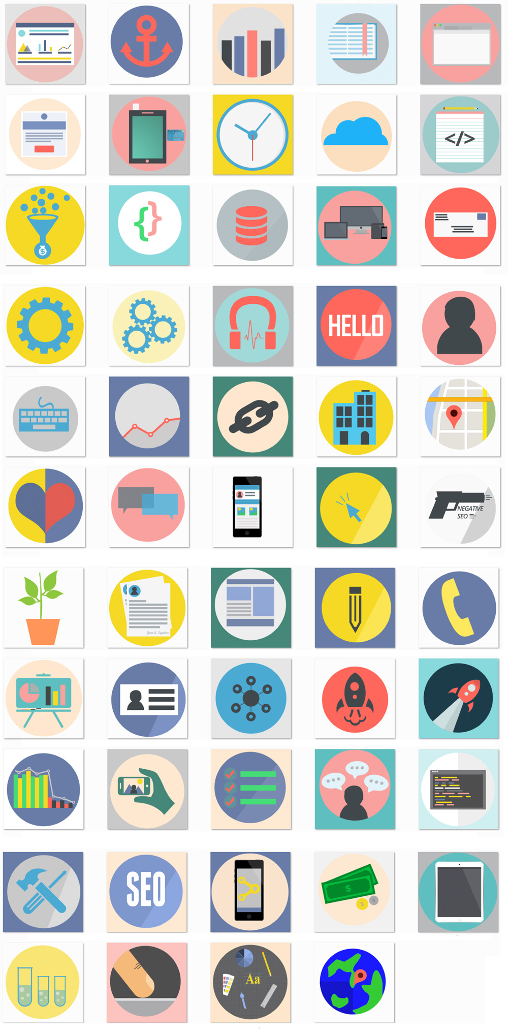 seo icons images preview