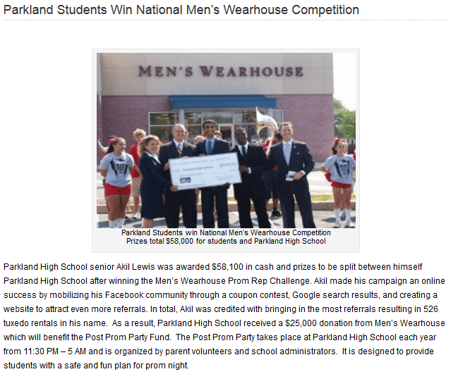winner of mens wearhouse contest