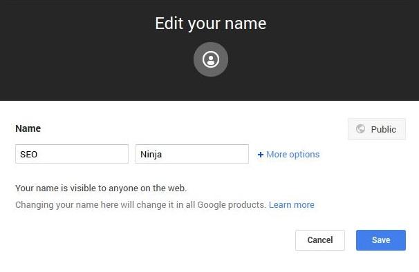 g plus real name change nickname
