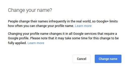 google plus real name change