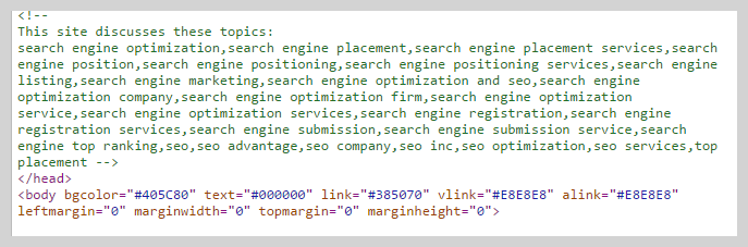 blackhat SEO keyword stuffing in comments