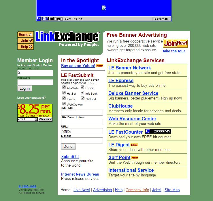 internet link exchange 1998