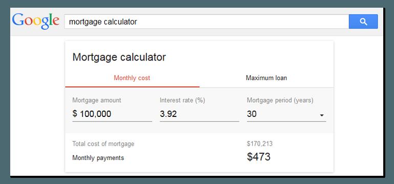 serps mortgage calculator