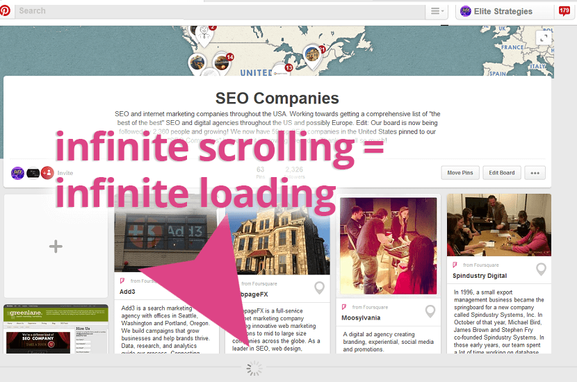 infinite scrolling loading issues