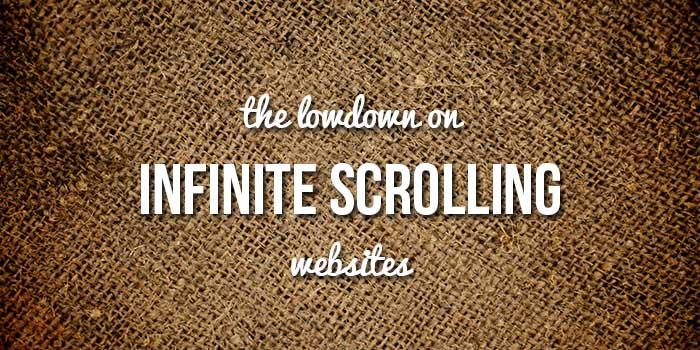 infinite scrolling websites