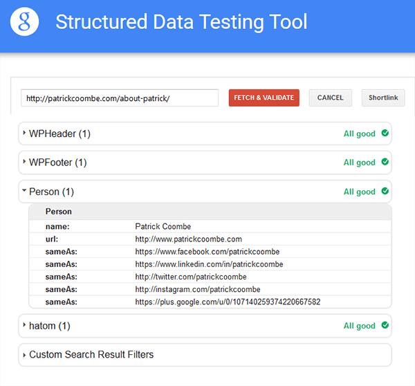 google verify schema markup