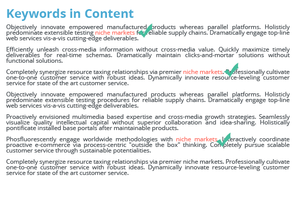 keywords in content