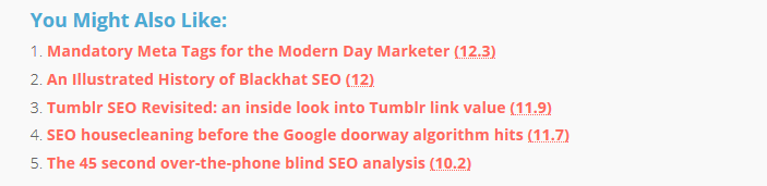 related posts SEO