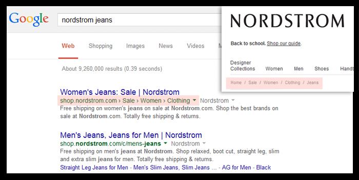 seo google breadcrumbs