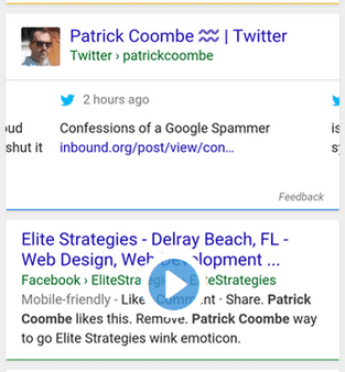 tweets in search results seo