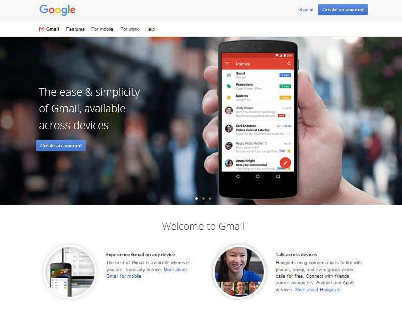 gmail hero image