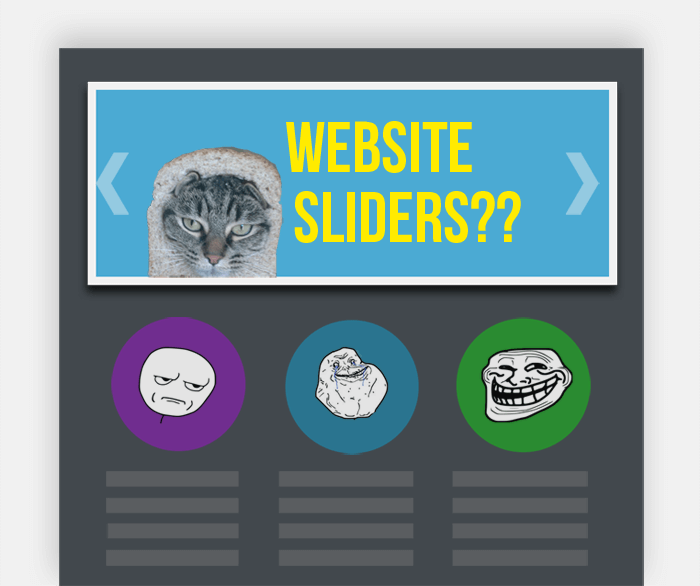website sliders illustration