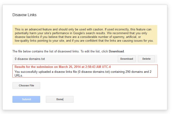 disavow google penguin 4.0