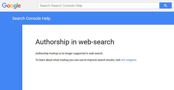 google removed authorship