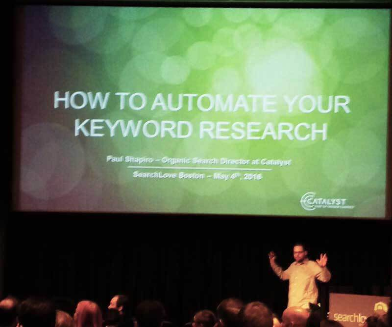 Paul Shapiro, SEO consultant: schooling the city of Boston on keyword research (the super technical way)
